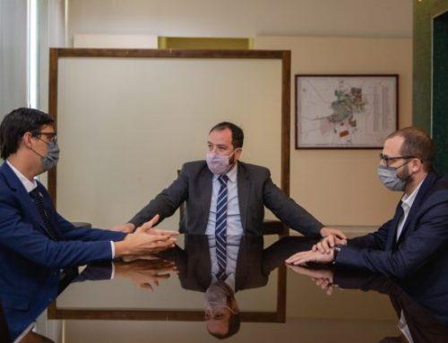 El ministro Filomena recibió al presidente del Colegio de Escribanos